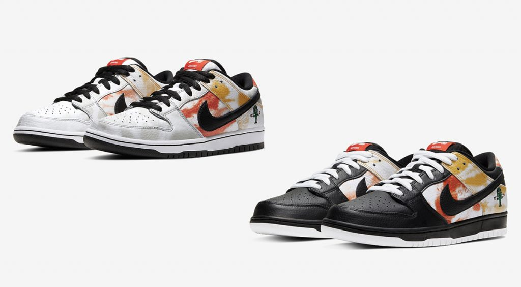 Nike SB dunk raygun tie dye away and home colorways