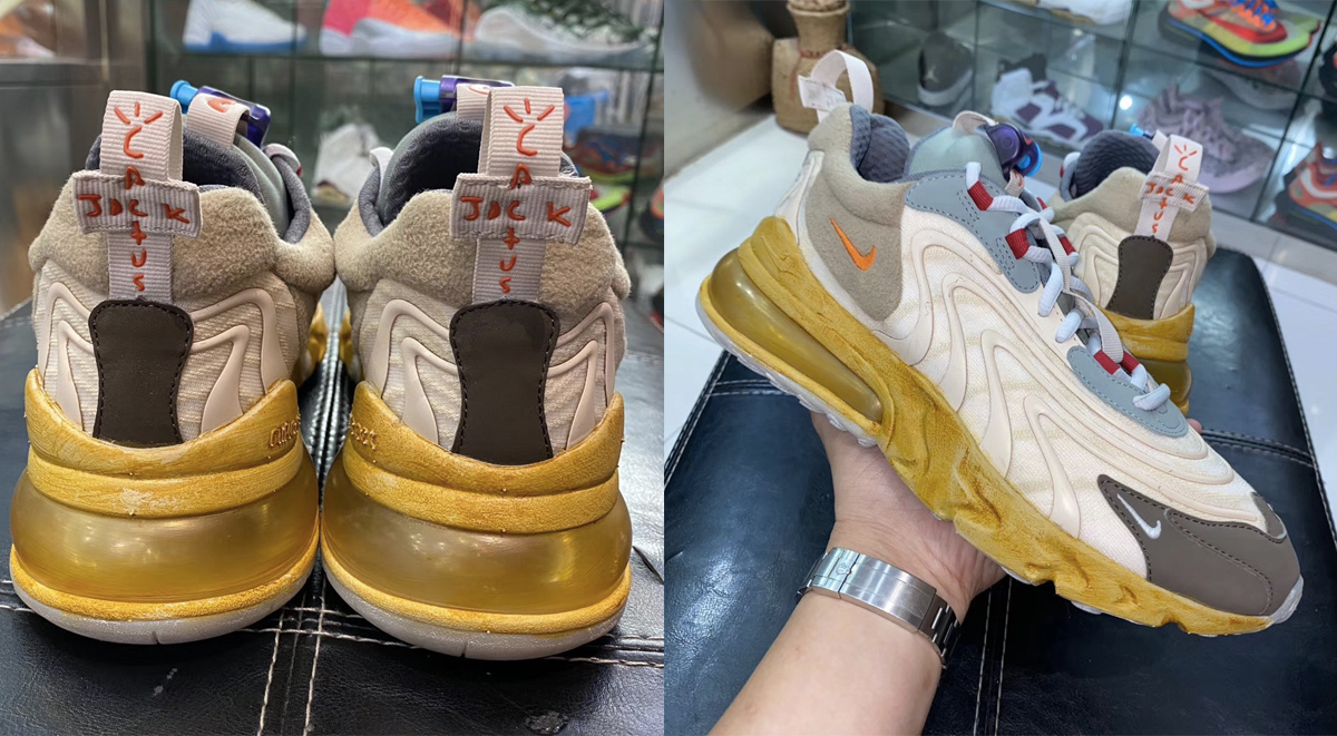 Nike x Travis Scott Air Max 270 React leaked images online social media