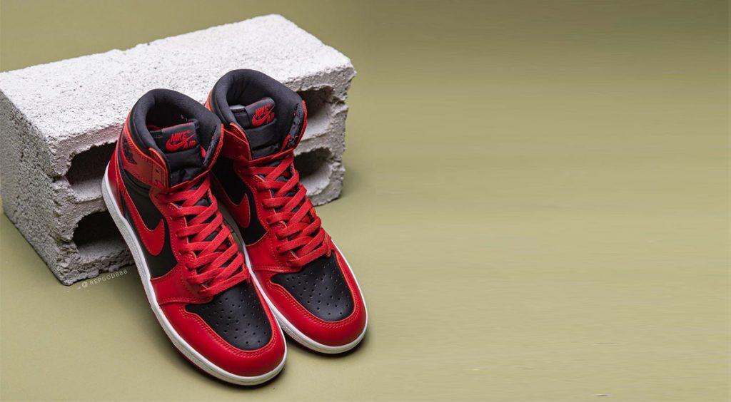 "Air Jordan 1 Hi 85 ""Varisty Red"" On Brick Toe Box"