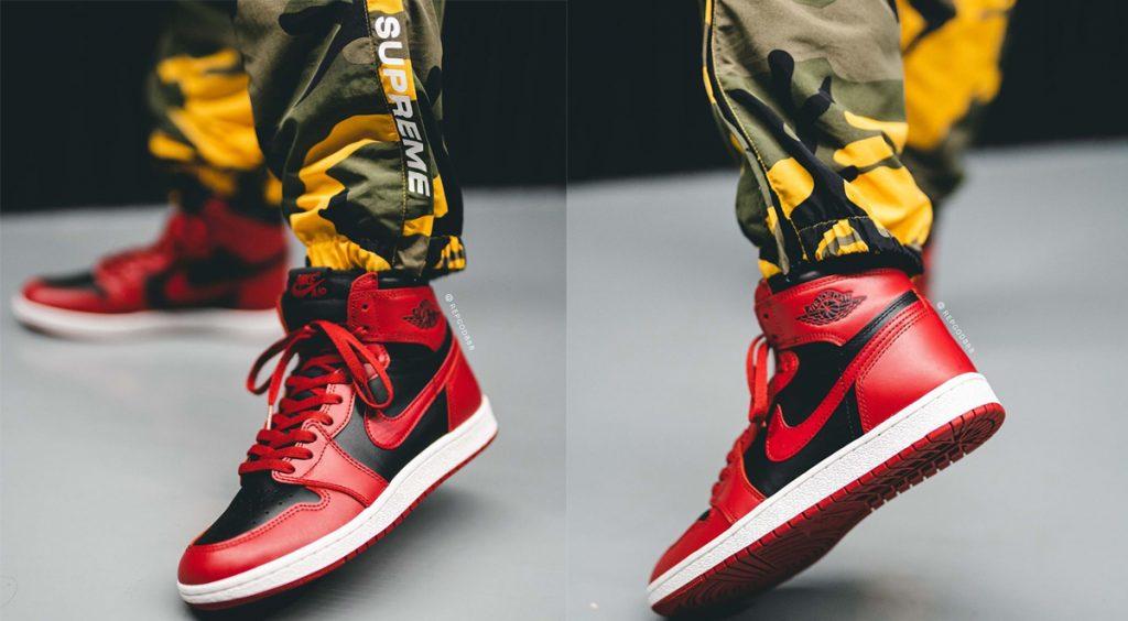 "Air Jordan 1 Hi 85 ""Varisty Red"" On-feet"