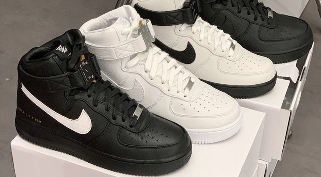 Alyx x Nike Air Force 1 High Colorways on boxes