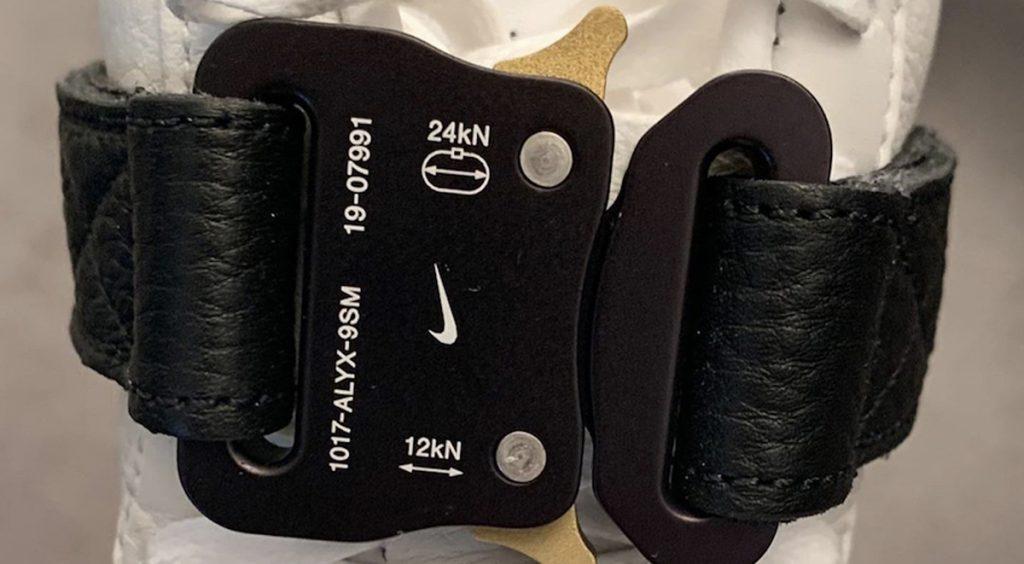 Alyx x Nike Air Force 1 High WhiteBlack Mechanical Belt Strap