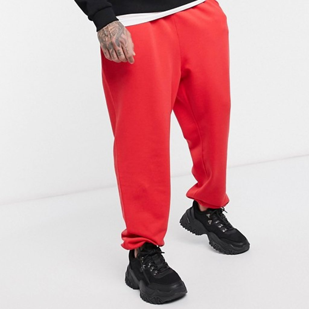 Chinese New Year Shopping Guide ASOS DESIGN relaxed joggers in red with toggle hem