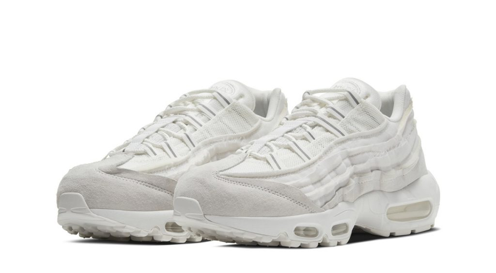 Comme des Garçons x Nike Air Max 95 white angled