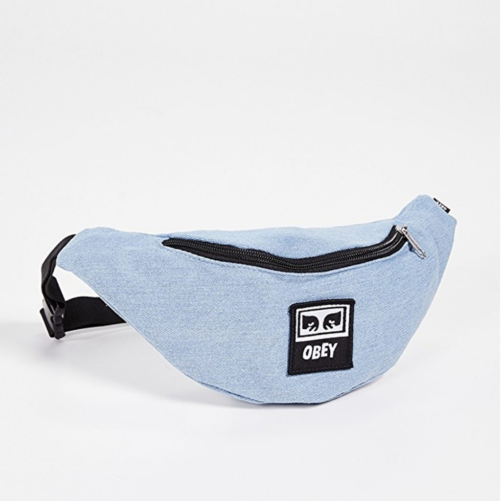 pantone 2020 blue Shopping Guide Obey Wasted hip bag in blue denim asos