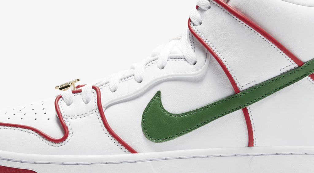 Paul Rodriguez x Nike SB Dunk High Color Scheme Zoomed in