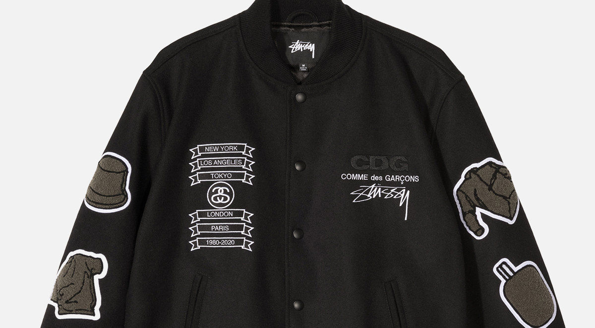 Stussy x CDG collaboration varsity jacket singapore release details
