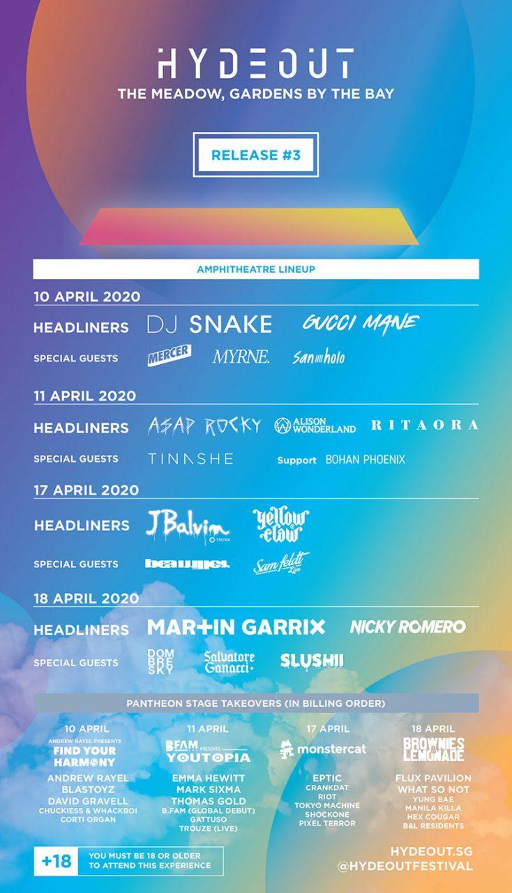 hydeout festival 2020 singapore lineup