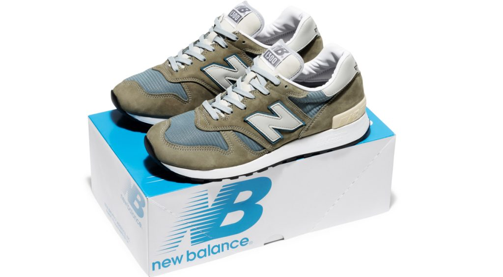 New Balance 1300JP on top of box