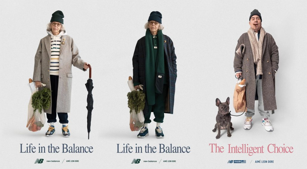 Aimé Leon Dore x New Balance 827 prior posters