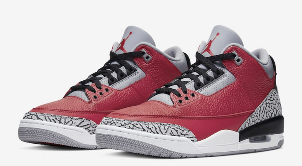 """Air Jordan 3 Retro SE """"Red Cements"""" Weekly Drops Feb 11 lateral view"""