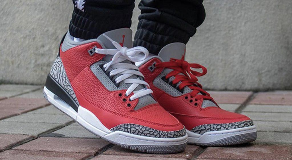 "Air Jordan 3 Retro SE ""Red Cements"" Weekly Drops Feb 11 on-feet"