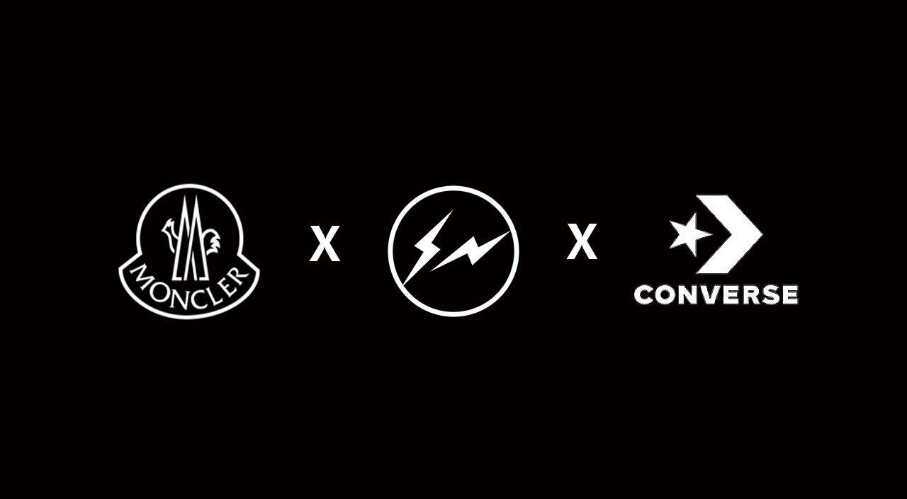 Fragment x Moncler x Converse Chuck 70 logo