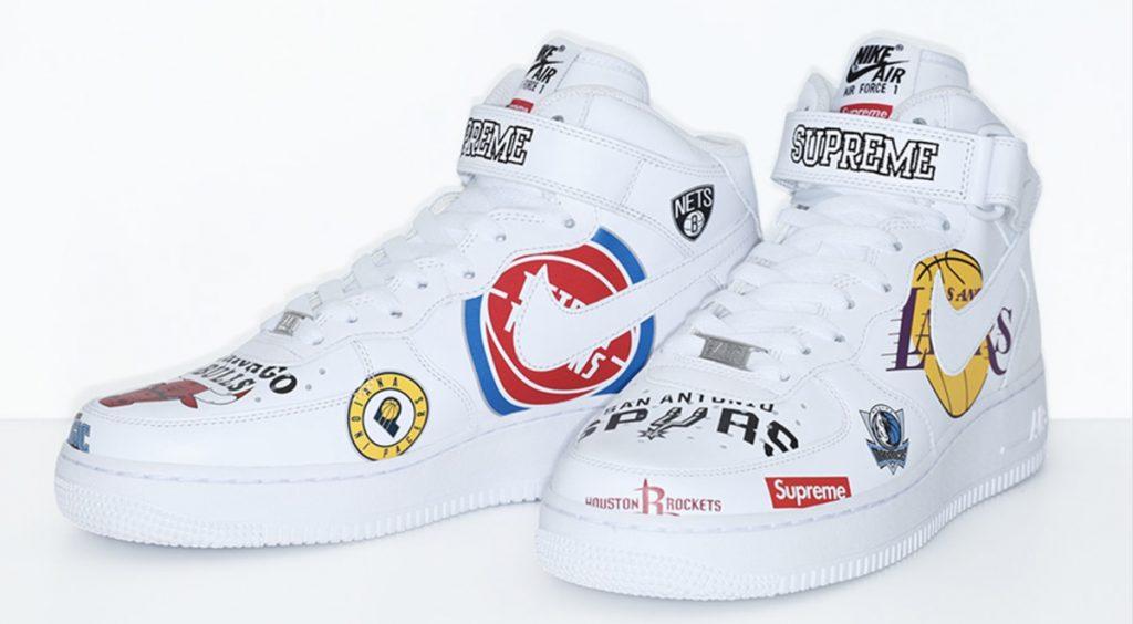 SS20 Supreme x Nike Air Force 1 Air Force 1 Mid Supreme NBA White
