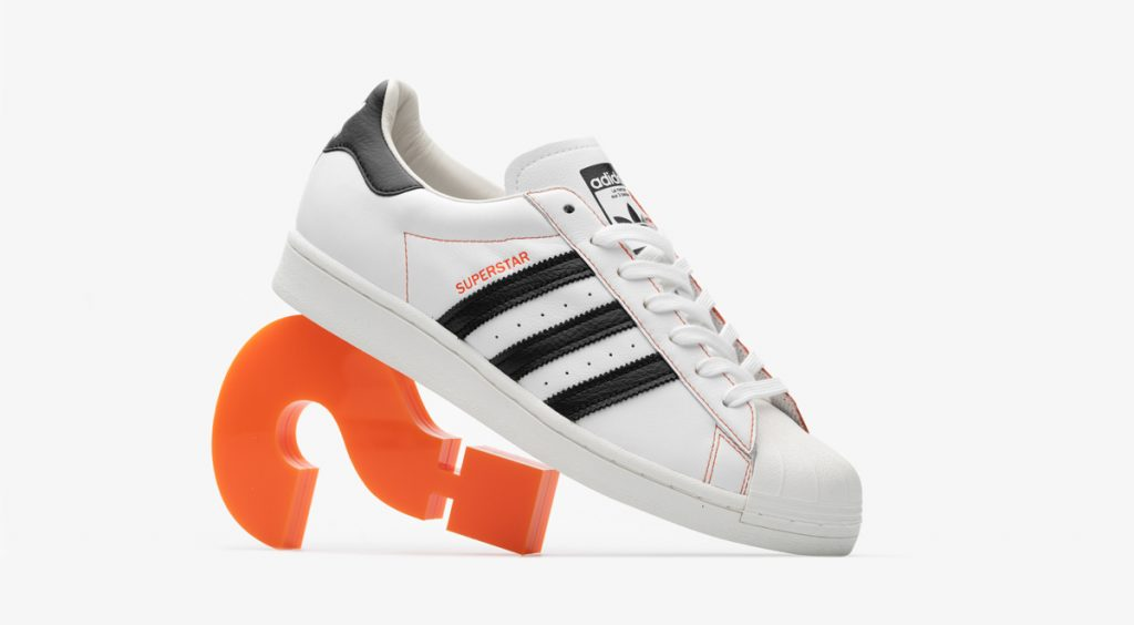 Size? x Adidas Superstar with size logo
