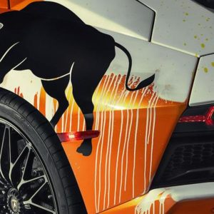 Street art car collaborations skyler grey Lamborghini Aventador S feature
