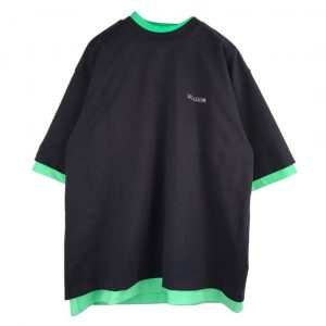 Surrender's SS20 CHARCOAL AND NEON GREEN REVERSIBLE GIG T-SHIRT We11done