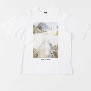 Surrender's SS20 white tee graphic marcelo burlon RE20
