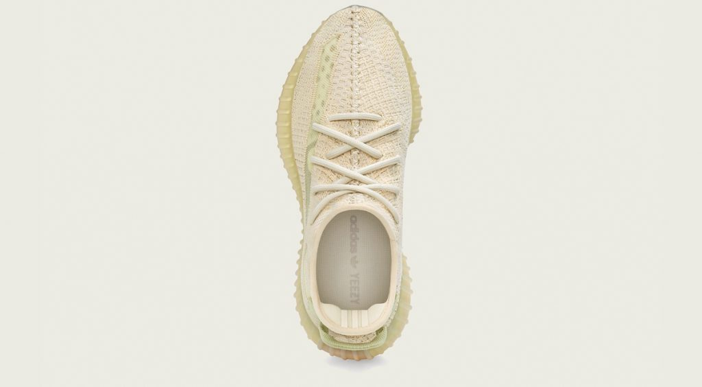 """Yeezy Boost 350 V2 """"Flax"""" top view"""