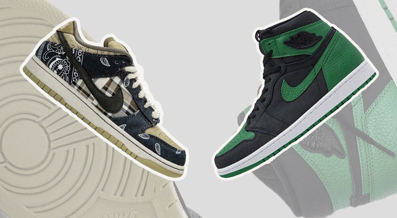 footwear drops air jordan 1 high pine green travis scott nike sb dunk low