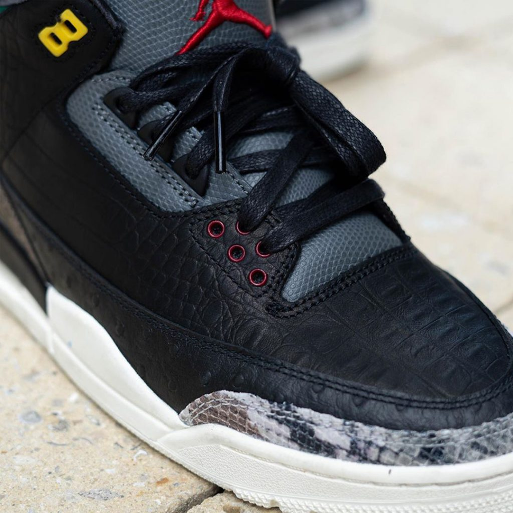 "Air Jordan 3 ""Animal Instinct 2.0"" close up"