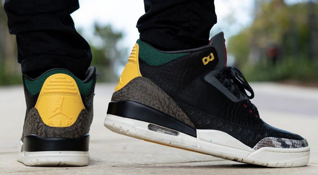 "Air Jordan 3 ""Animal Instinct 2.0"" heel"