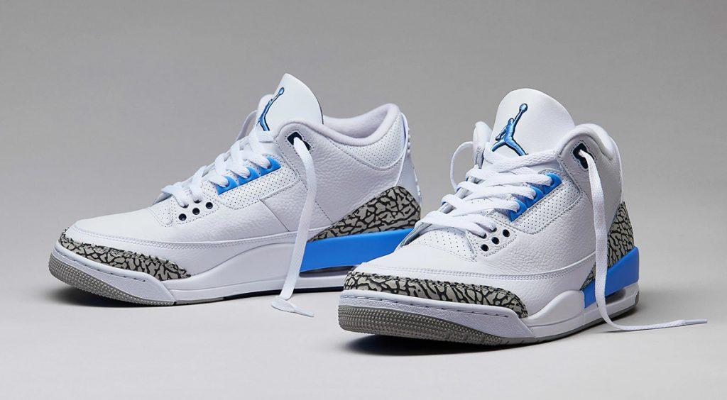 Air Jordan 3 UNC footwear drops