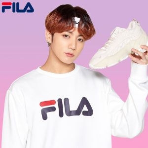 BTS Fila Fusion Collection sneaker