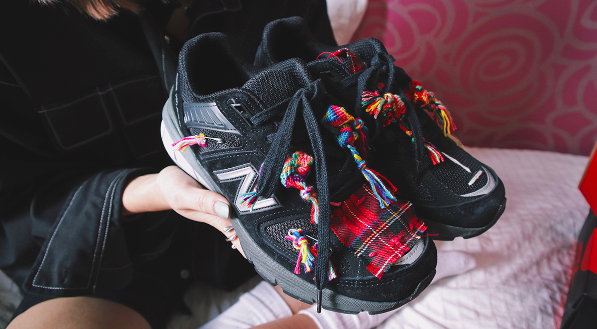 Clara Hong Collection customized New Balance 990