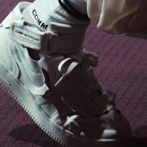 Comme des Garçons x Nike Air Force 1 Mid white runway
