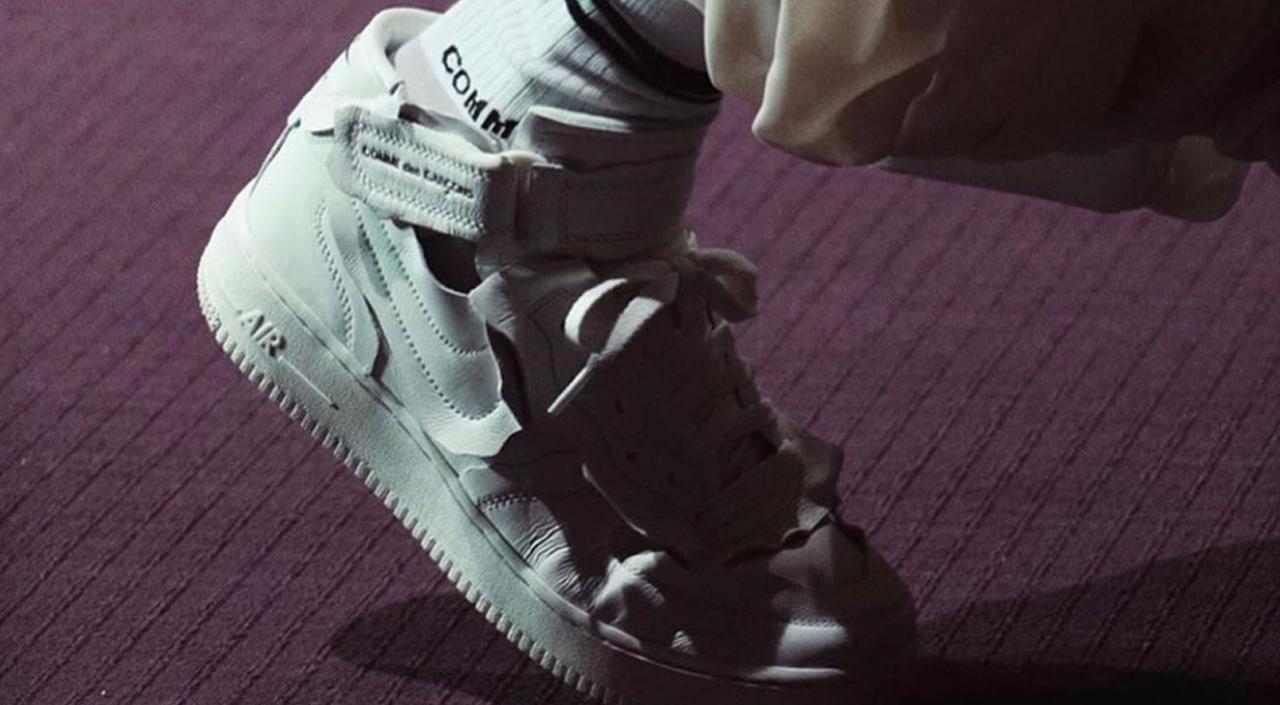Comme des Garçons x Nike Air Force 1 Mid white runway