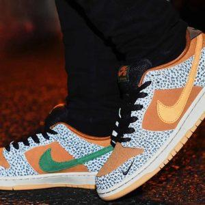 """Nike SB Dunk Low """"Safari"""" on feet"""