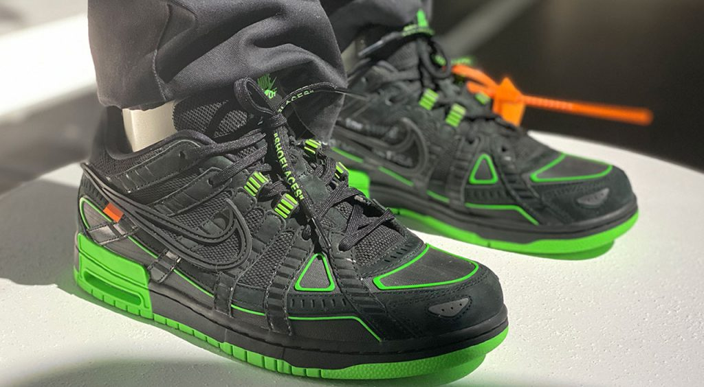 Off-White x Nike Rubber Dunk black and green