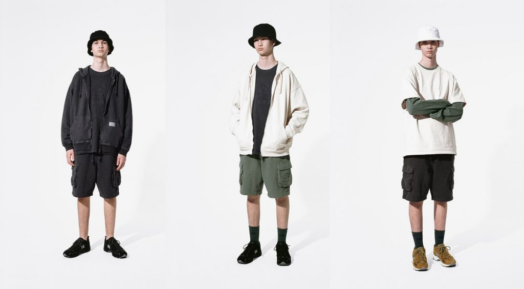 Thisisneverthat x New Balance 827 three outfits