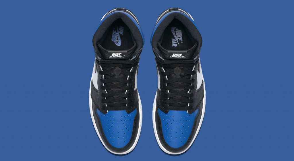 "Air Jordan 1 ""Game Royal"" top view"