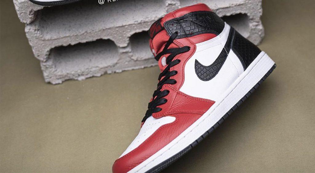 """Air Jordan 1 """"Satin Snake"""" side view"""