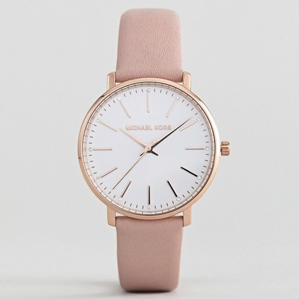 Mother's Day Gift Guide Michael Kors MK2741 Pyper Leather Watch In Pink 38mm