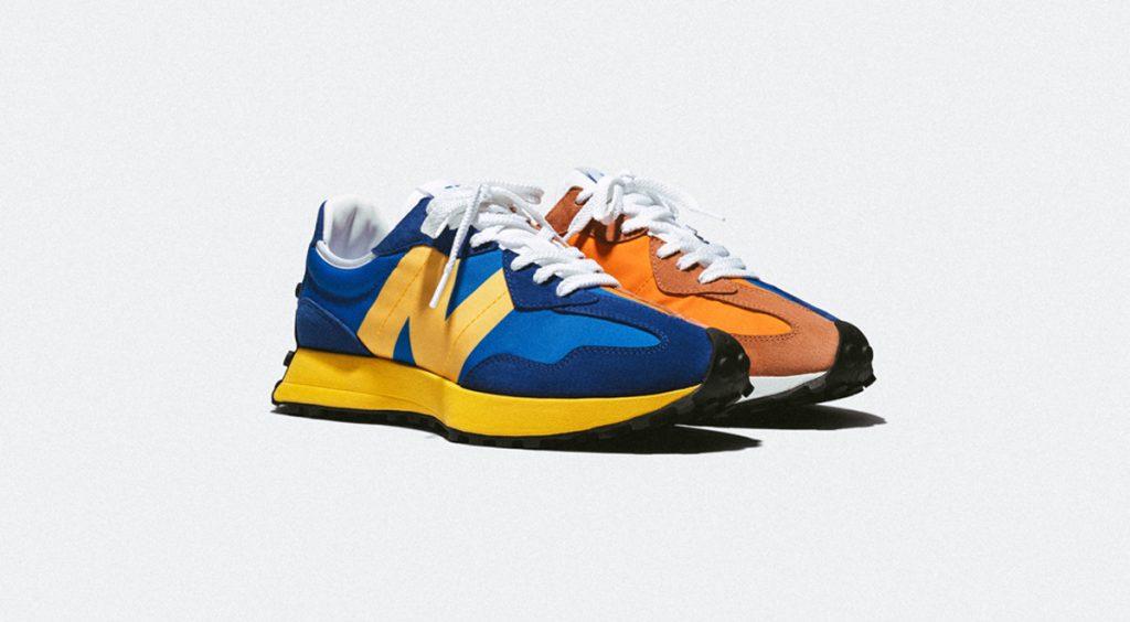 New Balance 327 blue orange official