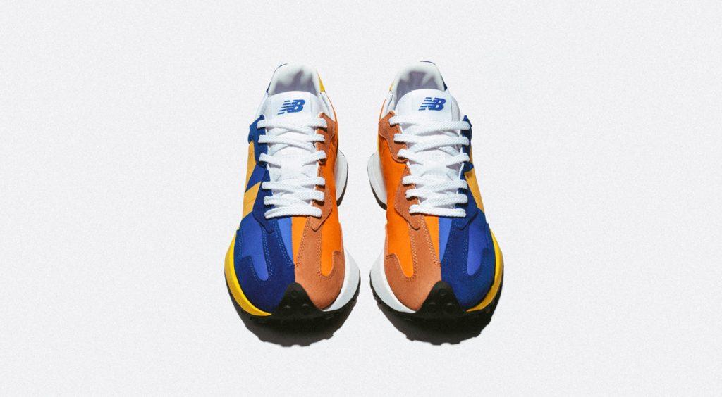 New Balance 327 blue orange official 2