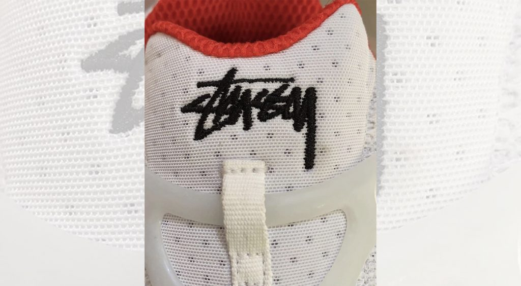 New Stussy x Nike Zoom Spiridon Caged 2 tongue