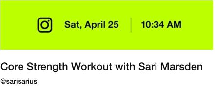 Nike Community Workout April 25
