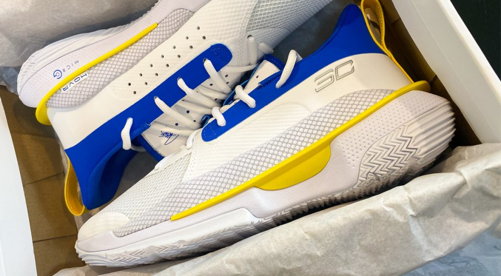 """Under Armour Curry 7 """"Dub Nation 2"""" in box"""