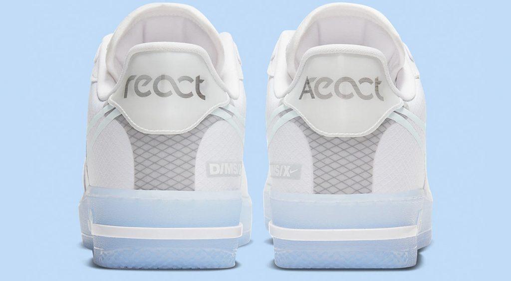 Nike Air Force 1 React QS heel