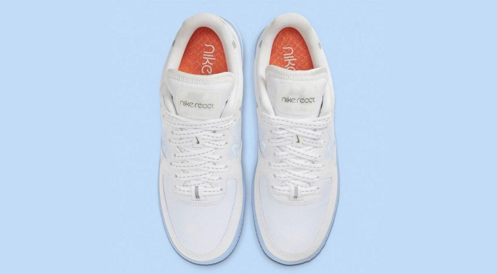 Nike Air Force 1 React QS top view