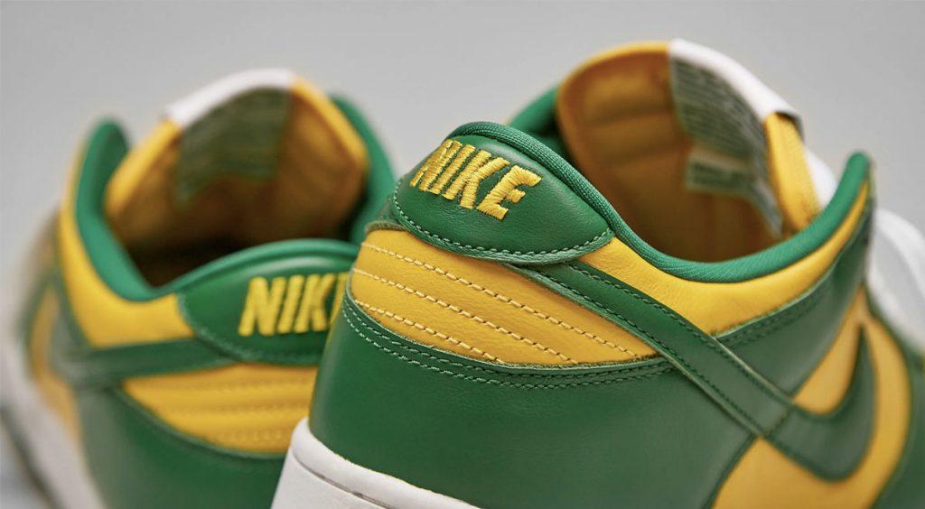 "Nike Dunk ""Brazil"" heel tab"
