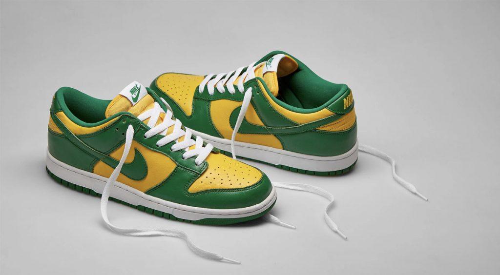 "Nike Dunk ""Brazil"" side view"