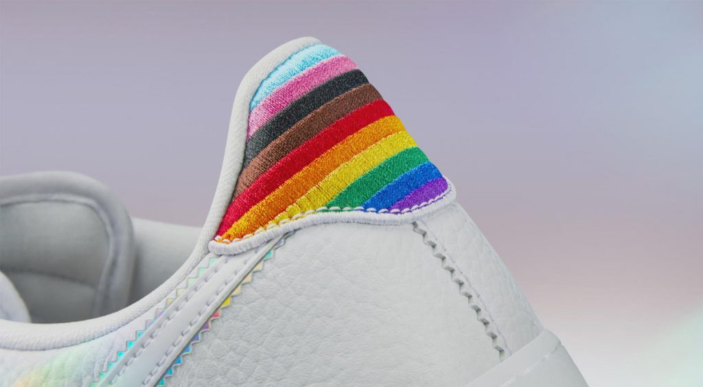 Nike and Converse Pride collection Nike Air Force 1 heel tab