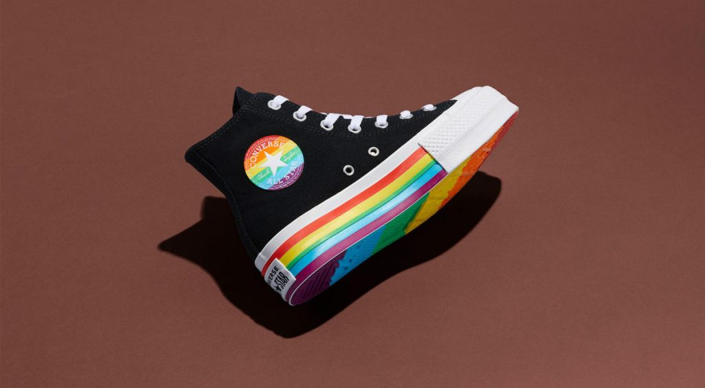 Nike and Converse Pride collection converse chuck platform brown