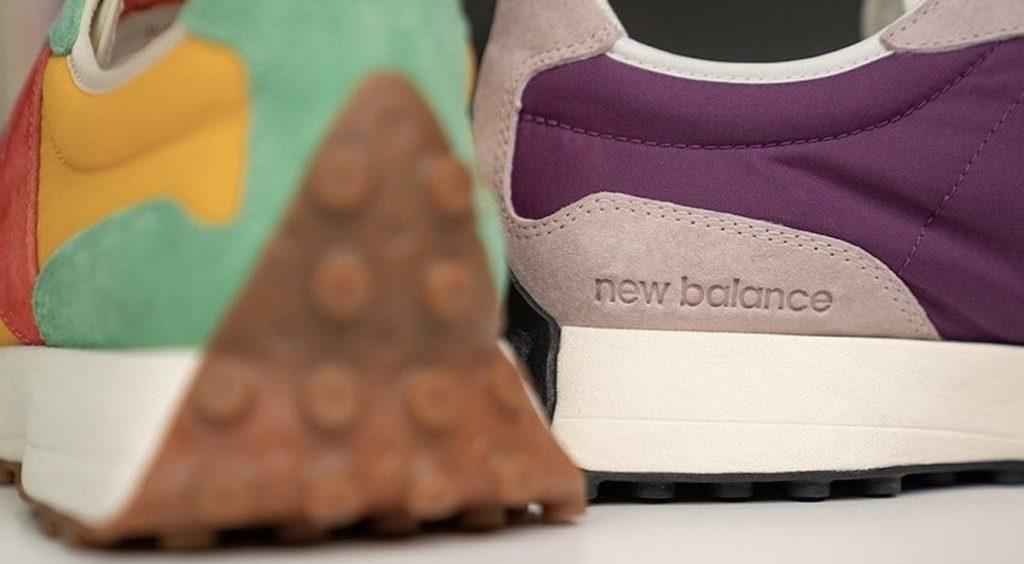 Size? x New Balance 327 close up