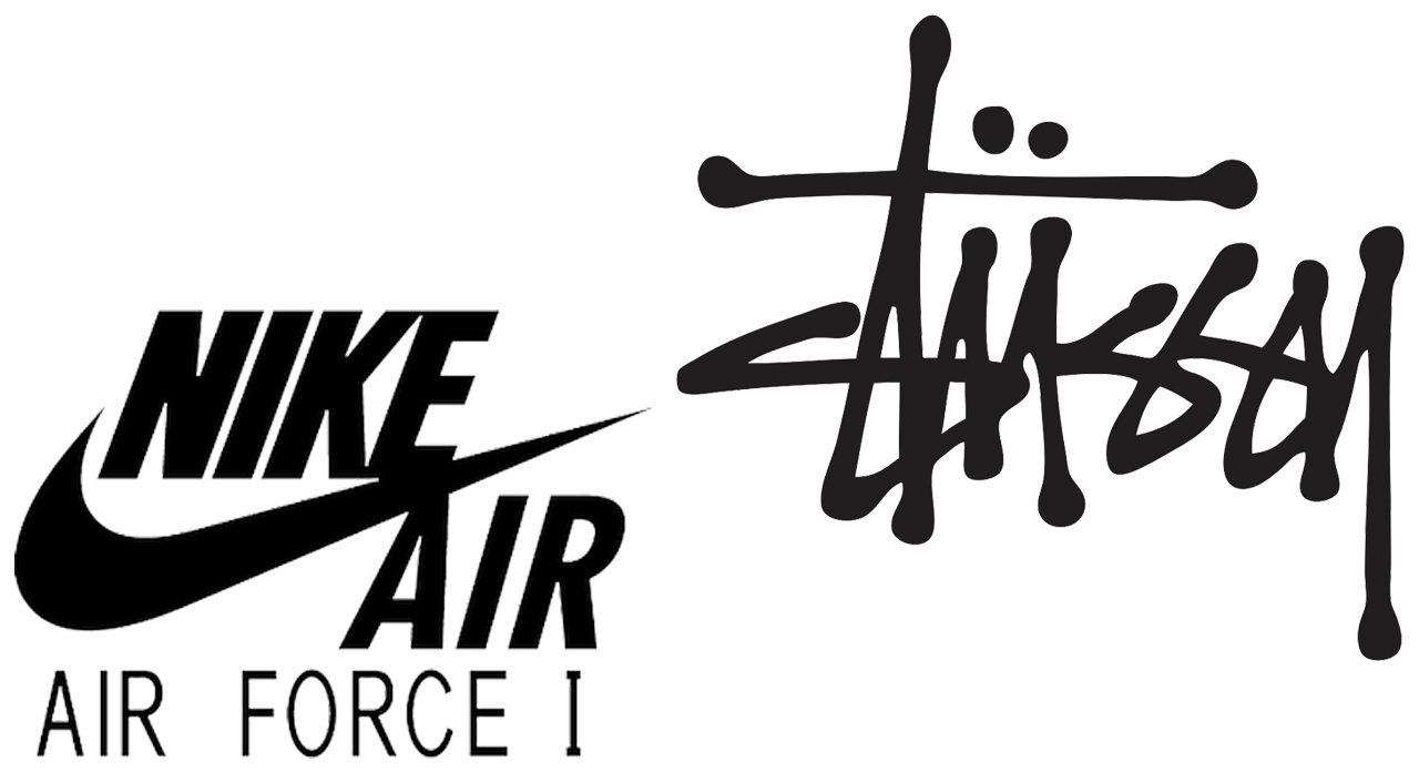 Stussy x Nike Air Force 1 logo